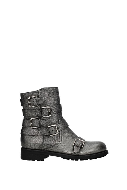 Item - Gray Ankle Dawson Women Leather Boots/Booties Size EU 37.5 (Approx. US 7.5) Regular (M, B)