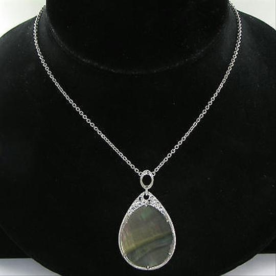 Judith Ripka Judith Ripka Lasso Necklace Black Mother Of Pearl White Sapphire 925
