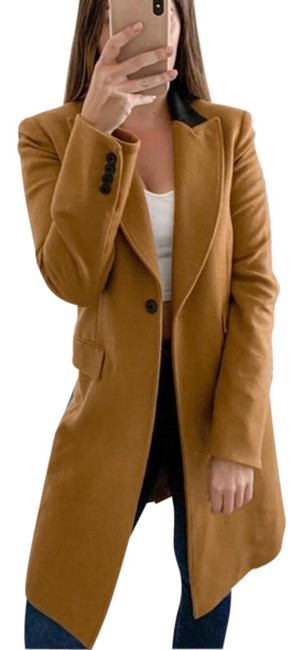 Item - Brown Orange Chesterfield Wool Blend In Camel Coat Size 6 (S)