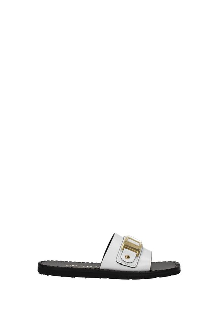 Item - White Slippers and Clogs Women Leather Flats Size EU 37 (Approx. US 7) Regular (M, B)