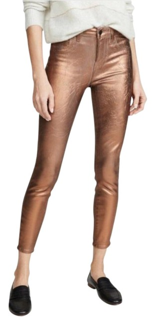 Item - Bronze Coated Margot High Rise Skinny Jeans Size 28 (4, S)