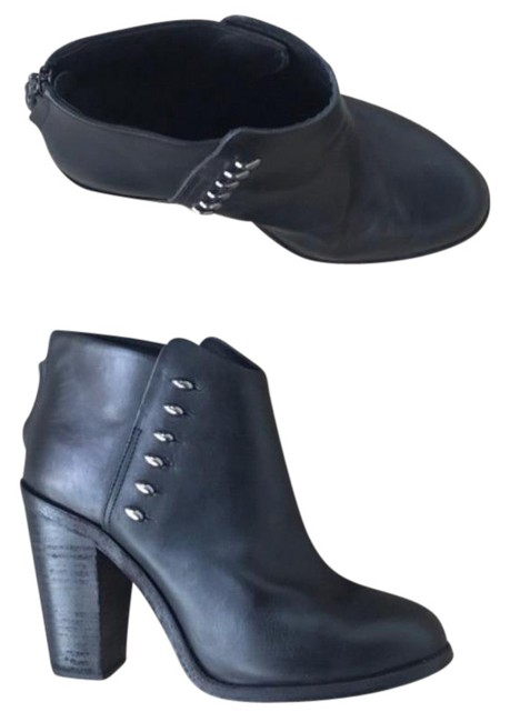 Item - Black Ayle Leather Ankle Boots/Booties Size US 11 Regular (M, B)