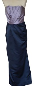 Vera Wang Orchid / Midnight Satin Draped Grosgrain Sash Vintage Bridesmaid/Mob Dress Size 2 (XS)