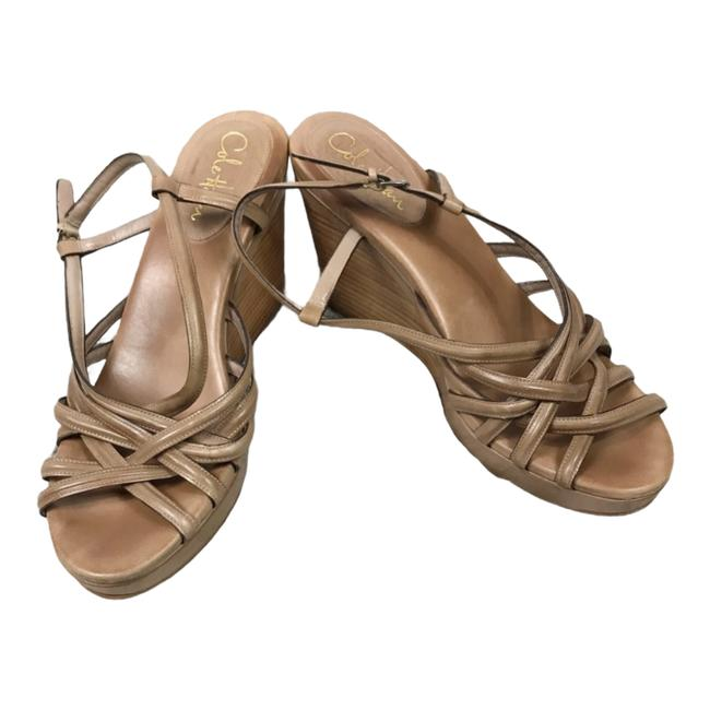Item - Tan Strappy Nike Air Support Leather Wedge Brown Sandals Size US 10 Regular (M, B)