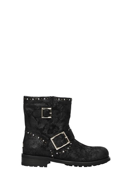 Item - Black Ankle Women Suede Boots/Booties Size EU 35 (Approx. US 5) Regular (M, B)