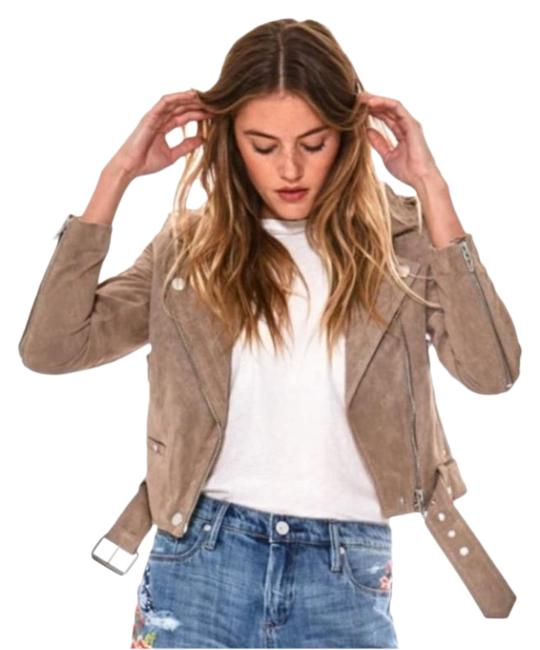 Item - French Taupe Suede Moto Jacket Size 4 (S)