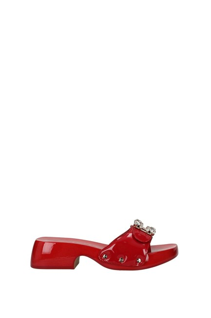 Item - Red Slippers and Clogs Women Patent Leather Flats Size EU 39 (Approx. US 9) Regular (M, B)