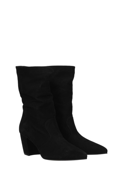 Item - Black Ankle Women Suede Boots/Booties Size EU 36.5 (Approx. US 6.5) Regular (M, B)