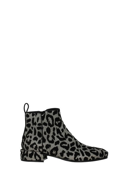Item - Silver Ankle Napoli Women Fabric Boots/Booties Size EU 37 (Approx. US 7) Regular (M, B)