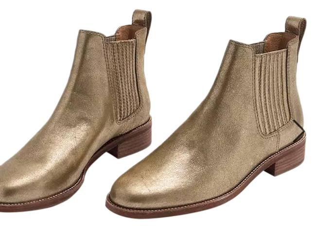 Item - Gold Ainsley Chelsea Metallic Leather Slip On Boots/Booties Size US 7.5 Regular (M, B)