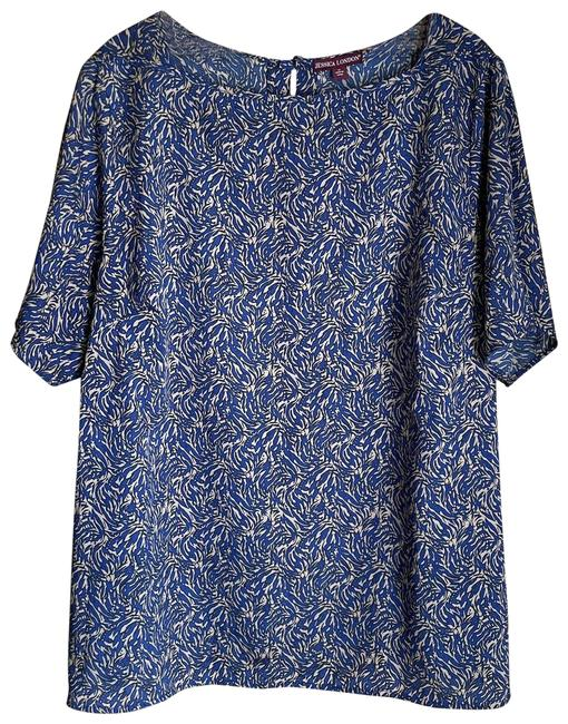 Item - Blue Abstract Print Blouse Size 22 (Plus 2x)