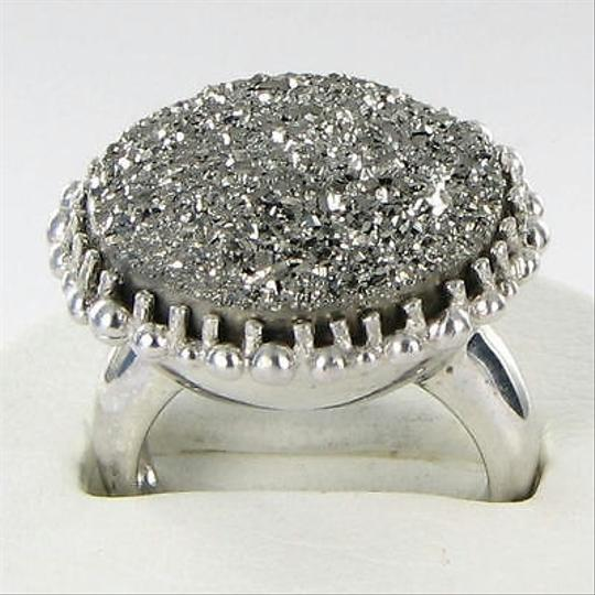 Anzie Anzie Dew Drop Ring Gunmetal Drusy Sterling Silver