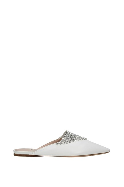 Item - White Slippers and Clogs Women Leather Flats Size EU 39 (Approx. US 9) Regular (M, B)