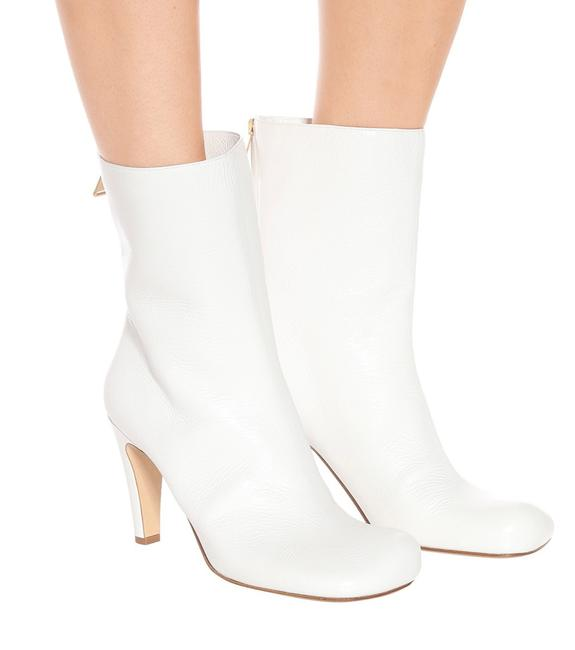 Item - White Bloc Ankle Square Toe Boots/Booties Size EU 40 (Approx. US 10) Regular (M, B)