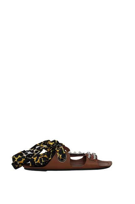 Item - Brown Slippers and Clogs Women Leather Flats Size EU 38 (Approx. US 8) Regular (M, B)