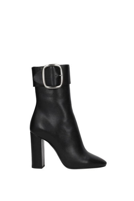 Item - Black Ankle Baby Horse Women Leather Boots/Booties Size EU 40 (Approx. US 10) Regular (M, B)