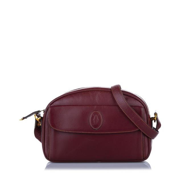 Item - Card Red Leather Cross Body Bag