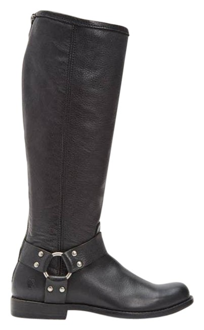 Item - Black Leather Phillip Harness Boots/Booties Size US 6 Regular (M, B)