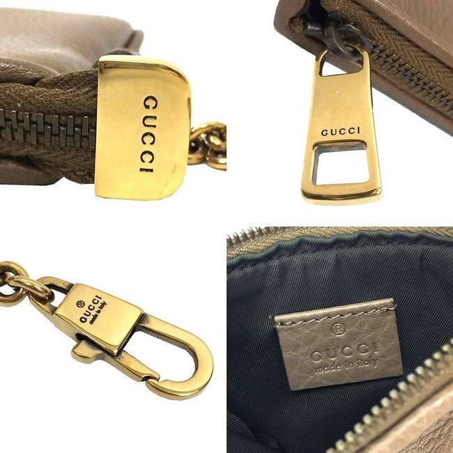 Gucci Light Brown Coin Case with Key Ring 252042 Purse Leather Wallet Gucci Light Brown Coin Case with Key Ring 252042 Purse Leather Wallet Image 3