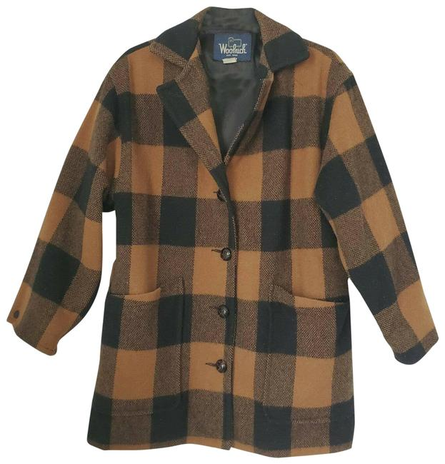 Item - Brown Women Small Plaid Wool Blend Jacket Size 6 (S)