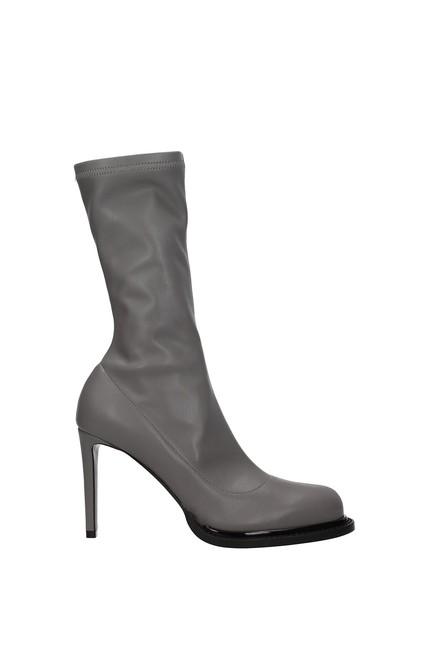Item - Gray Ankle Women Eco Leather Boots/Booties Size EU 36 (Approx. US 6) Regular (M, B)