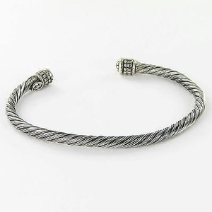 Scott Kay Twisted Wire Cuff Bracelet 4mm Sterling Silver