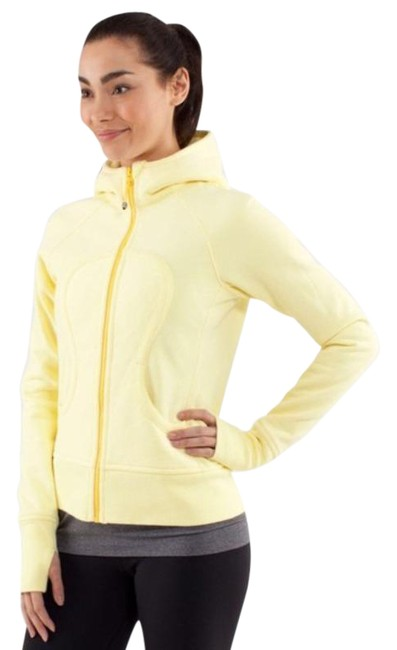 Item - Yellow Scuba Hoodie *stretch In Activewear Outerwear Size 2 (XS)