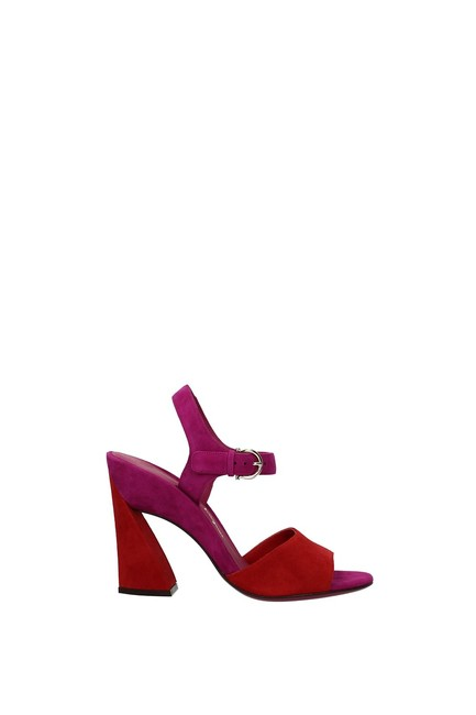 Item - Red Aede Women Suede Sandals Size US 8 Regular (M, B)