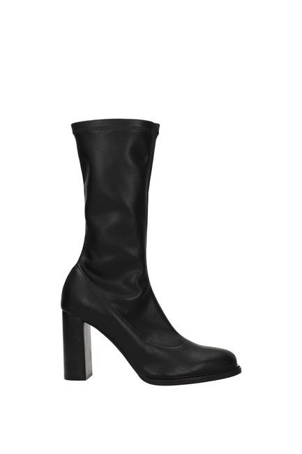 Item - Black Ankle Women Eco Leather Boots/Booties Size EU 35.5 (Approx. US 5.5) Regular (M, B)