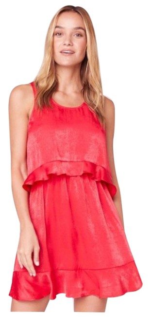 Item - Red Not Today Layered Mini Short Casual Dress Size 6 (S)