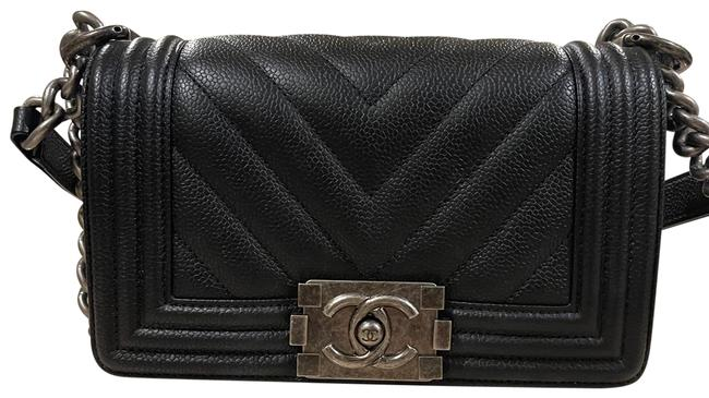 Item - Chain Boy Clack and Silver Hardware Lambskin Leather Cross Body Bag