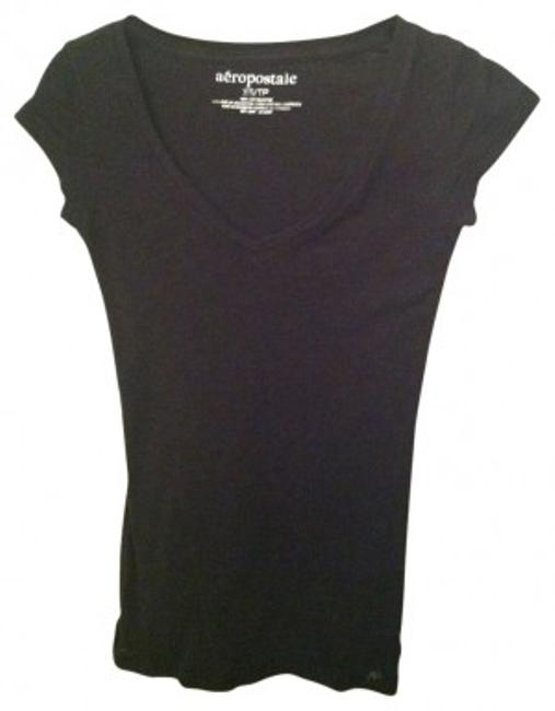 Preload https://item1.tradesy.com/images/aeropostale-black-feathered-v-neck-tee-shirt-size-00-xxs-29270-0-0.jpg?width=400&height=650