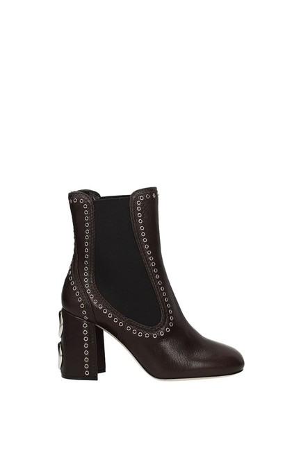 Item - Brown Ankle Women Leather Boots/Booties Size EU 39 (Approx. US 9) Regular (M, B)