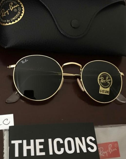 Item - Gold Frame / Classic Green G-15 Lens Round Metal Rb3447 001 50-21 (Mm) Sunglasses