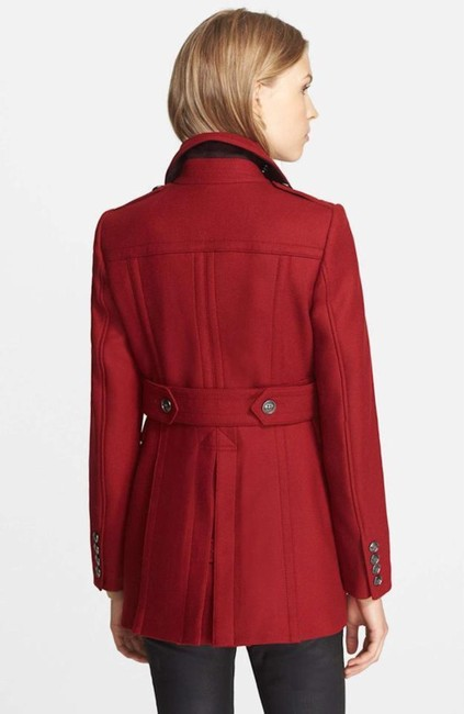 Burberry Red Wool Cashmere Double-breasted Peacoat Jacket Coat Size 8 (M) Burberry Red Wool Cashmere Double-breasted Peacoat Jacket Coat Size 8 (M) Image 3