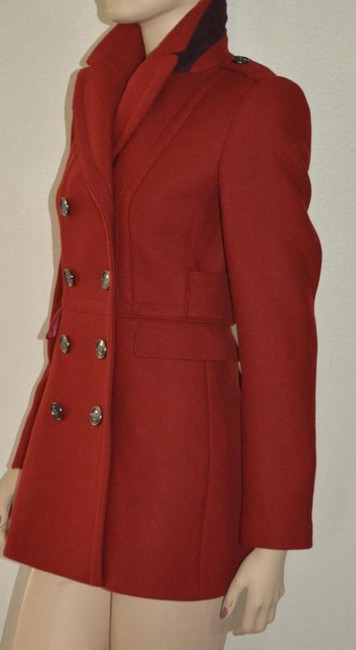 Burberry Red Wool Cashmere Double-breasted Peacoat Jacket Coat Size 8 (M) Burberry Red Wool Cashmere Double-breasted Peacoat Jacket Coat Size 8 (M) Image 5