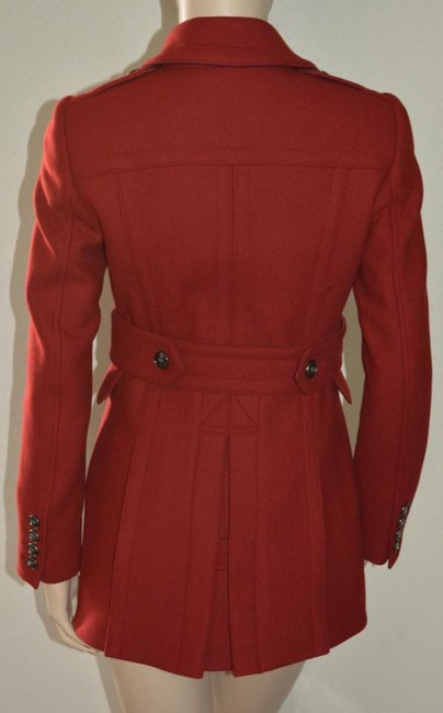 Burberry Red Wool Cashmere Double-breasted Peacoat Jacket Coat Size 8 (M) Burberry Red Wool Cashmere Double-breasted Peacoat Jacket Coat Size 8 (M) Image 8