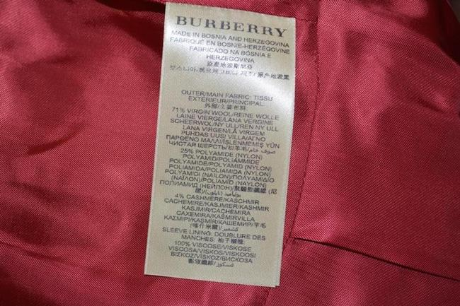 Burberry Red Wool Cashmere Double-breasted Peacoat Jacket Coat Size 8 (M) Burberry Red Wool Cashmere Double-breasted Peacoat Jacket Coat Size 8 (M) Image 10
