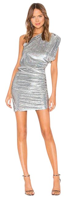 Item - Silver X Revolve Exciter One Shoulder Sequin Short Casual Dress Size 6 (S)