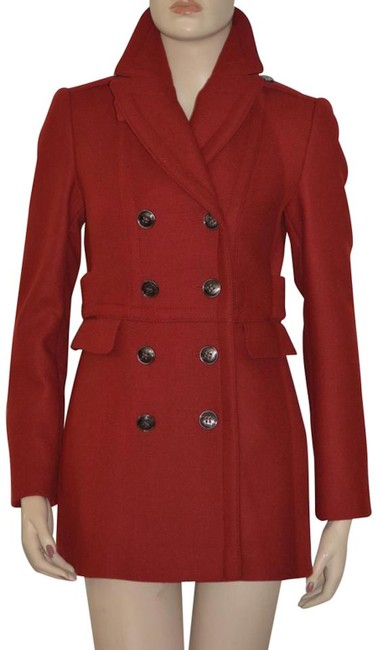 Item - Red Wool Cashmere Double-breasted Peacoat Jacket Coat Size 8 (M)