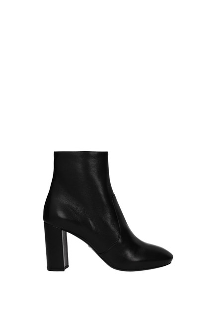 Item - Black Ankle Women Leather Boots/Booties Size EU 36.5 (Approx. US 6.5) Regular (M, B)