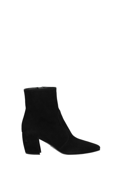 Item - Black Ankle Women Suede Boots/Booties Size EU 36 (Approx. US 6) Regular (M, B)