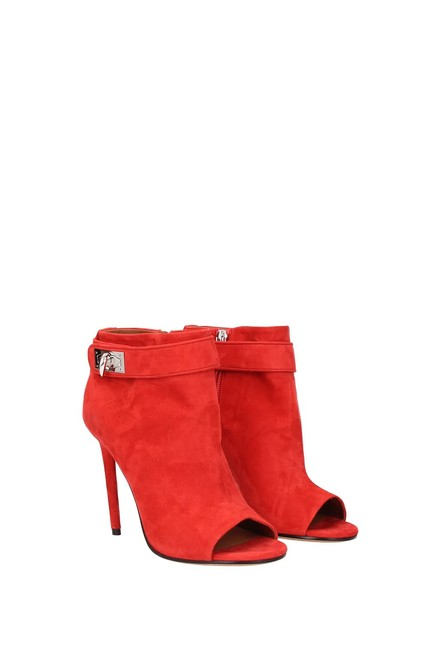 Item - Red Ankle Women Suede Boots/Booties Size EU 39 (Approx. US 9) Regular (M, B)