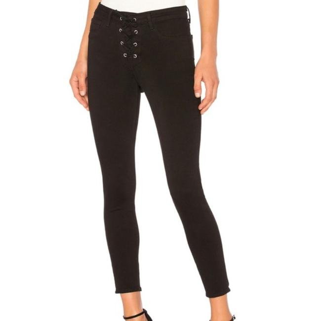 Item - Black Coated The Cherie Lace-up Skinny Jeans Size 28 (4, S)