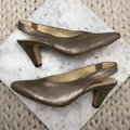Paul Green Gold Asia Slingback Pointed Heels Pumps Size US 4 Regular (M, B) Paul Green Gold Asia Slingback Pointed Heels Pumps Size US 4 Regular (M, B) Image 2
