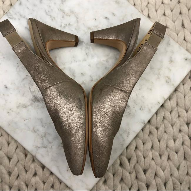 Paul Green Gold Asia Slingback Pointed Heels Pumps Size US 4 Regular (M, B) Paul Green Gold Asia Slingback Pointed Heels Pumps Size US 4 Regular (M, B) Image 3