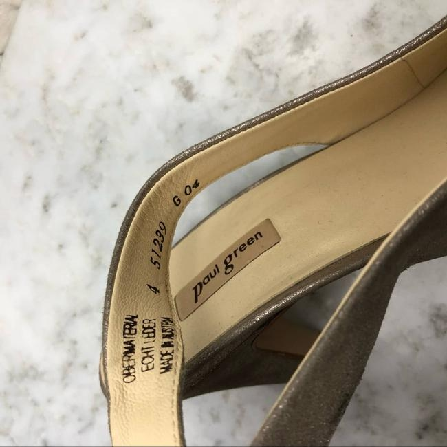 Paul Green Gold Asia Slingback Pointed Heels Pumps Size US 4 Regular (M, B) Paul Green Gold Asia Slingback Pointed Heels Pumps Size US 4 Regular (M, B) Image 7