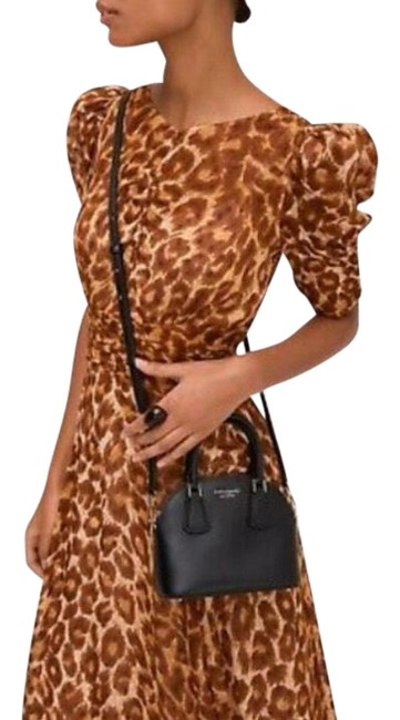 Item - Brown Nwot Leopard Print Ruched Midi Mid-length Formal Dress Size 4 (S)