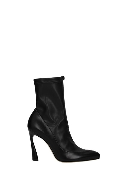 Item - Black Ankle Women Leather Boots/Booties Size EU 35 (Approx. US 5) Regular (M, B)