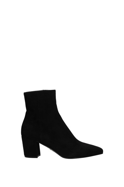 Item - Black Ankle Women Suede Boots/Booties Size EU 38.5 (Approx. US 8.5) Regular (M, B)